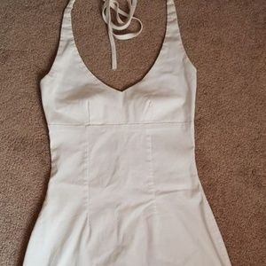 Charlotte Russe White Summer Halter dress Size sm